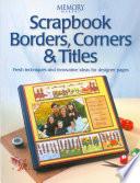 Scrapbook Borders  Corners   Titles