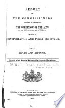 Report of the Commissioners Appointed to Inquire Into the Operation of the Acts