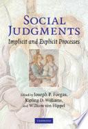 Social Judgments
