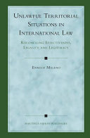 Unlawful Territorial Situations in International Law