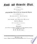 Kunst Und Gewerbeblatt Des Polytechnischen Vereins F R Das K Nigreich Bayern book
