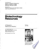 Biotechnology Resources Book PDF
