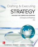 Crafting and Executing Strategy  Concepts and Readings