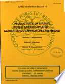 Productivity of Maine s Forest Underestimated Book PDF