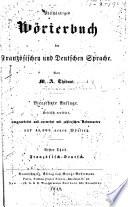 Vollst  ndiges W  rterbuch der franz  sischen und deutschen Sprache