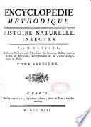 Encyclopédie méthodique. Histoire naturelle...
