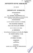 Seventy-five Sermons on Various Important Subjects