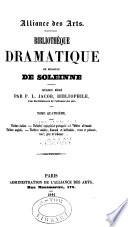 Biblioth  que dramatique de Monsieur de Soleinne