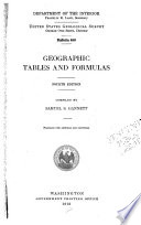 Geographic Tables and Formulas