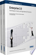 Handbook of Research on Enterprise 2 0  Technological  Social  and Organizational Dimensions