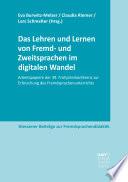 Das Lehren Und Lernen Von Fremd Und Zweitsprachen Im Digitalen Wandel