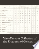 Miscellaneous collection of the programs of German gymnasia and real schools for the year 1889  Bericht   ber das Altst  dtische Gymnasium zu K  nigsberg