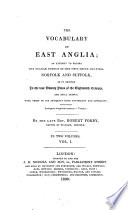 Ebook The Vocabulary of East-Anglia Etc Epub Robert Forby Apps Read Mobile