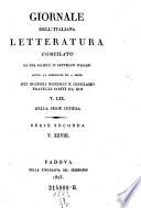 Giornale della letteratura italiana