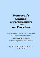Demeter s Manual of Parliamentary Law and Procedure