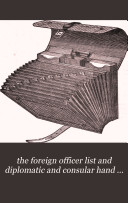download ebook the foreign officer list and diplomatic and consular hand book january 1877 pdf epub