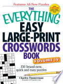 The Everything Easy Large Print Crosswords Book  Volume IV