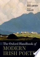 The Oxford Handbook of Modern Irish Poetry