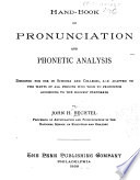 Hand-book of Pronunciation and Phonetic Analysis ...