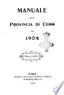 Manuale della provincia di Como per l anno