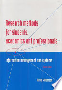Research Methods for Students  Academics and Professionals
