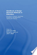 Handbook of Design Research Methods in Education