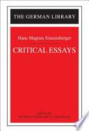 Critical Essays  Hans Magnus Enzensberger