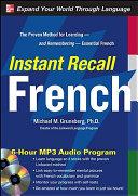 Instant Recall French  6 Hour MP3 Audio Program