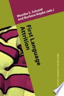 First Language Attrition