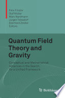 Quantum Field Theory and Gravity