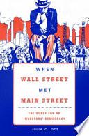 When Wall Street Met Main Street Book PDF