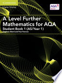 A Level Further Mathematics For Aqa Student Book 1 As Year 1