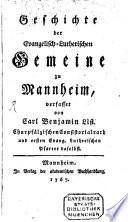 Geschichte der Evangelischen Lutherischen Gemeinde zu Mannheim