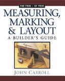 Measuring  Marking   Layout