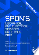 Spon S Mechanical And Electrical Services Price Book 2013