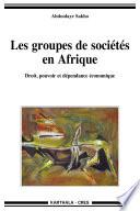 Groupes de sociétés en Afrique (Les). Droit, pouvoir et dépendance économique