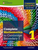 Oxford International Maths for Cambridge Secondary 1 Student Book 1