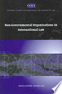 Non Governmental Organisations in International Law