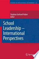 School Leadership   International Perspectives