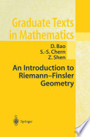 An Introduction to Riemann Finsler Geometry