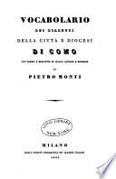 Vocabolario dei dialetti della citt   e diocesi di Como con esempi e riscontri di lingue antiche e moderne