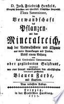 D. Joh. Friedrich Henkels, Königlich Polnischen und Churfürstl. Sächsischen Bergraths, Flora Saturnizans