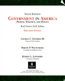 Government in America:People, Politics, and Policy, Brief Version (Study Edition) Election Update