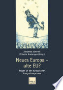 Neues Europa — alte EU?