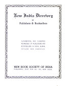 New India Directory of Publishers   Booksellers