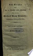 Am Grabe des den 12. December 1816 verstorbenen Herrn Gerhard Adam Neuhofer, wohlverdienten Diakons bei St. Anna