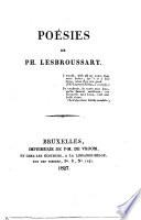 Poésies de Ph. Lesbroussart