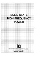 Solid state high frequency power