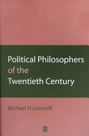 Political Philosophers of the Twentieth Century
