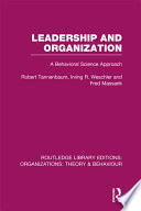 Leadership and Organization  RLE  Organizations
